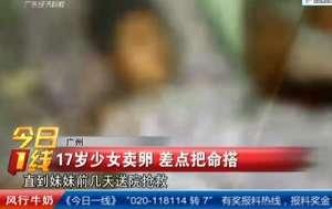 广州17岁少女打激素卖卵 一次取出21颗卵子险丧命