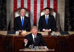 """特朗普首次国会演讲 把国内""""坏人""""驱逐出境"""